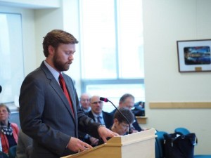 Maine Small Business Coalition Director Will Ikard testifies in Augusta