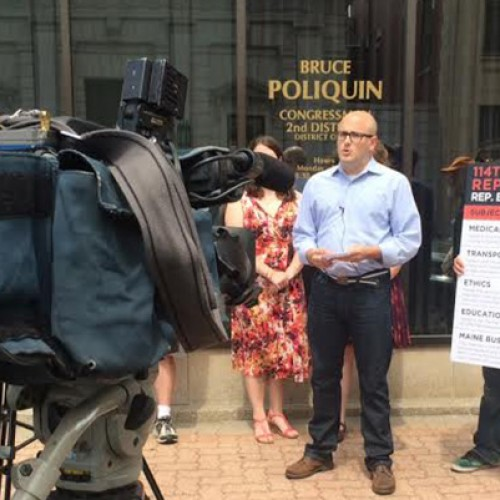 Maine Democrats protest Rep. Poliquin's vote to privatize Medicare