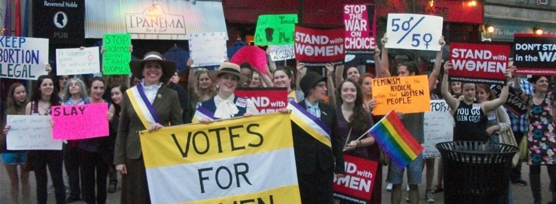 Women march for equality in Bangor