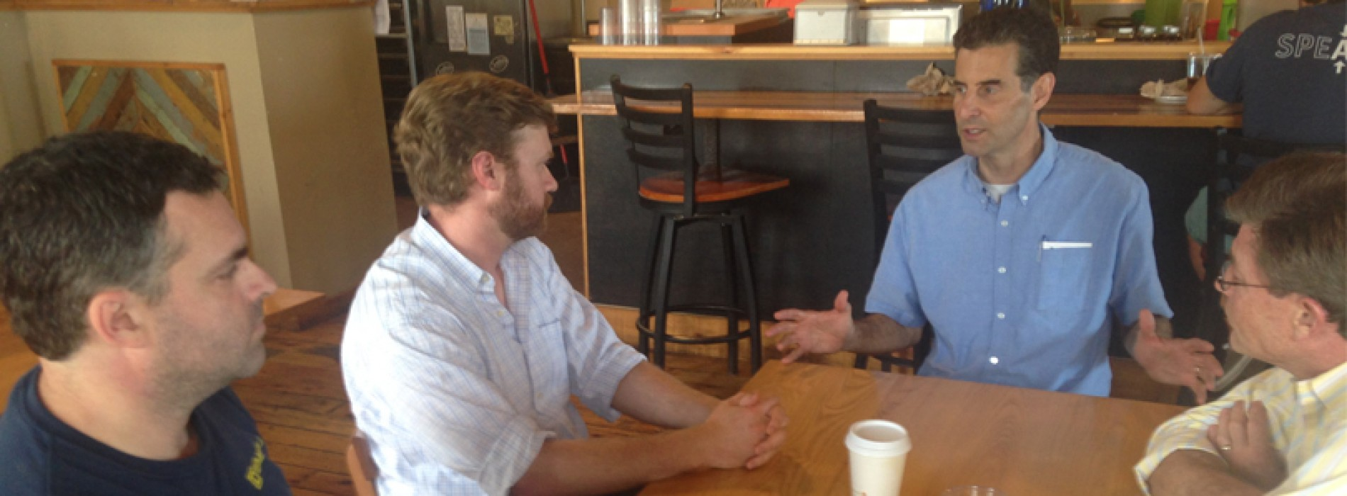 Maine small business owners discuss dangers of money in politics with congressional leader