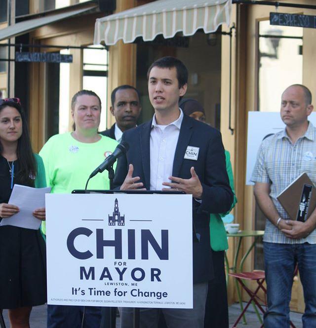 Ben Chin, Lewiston Mayoral candidate