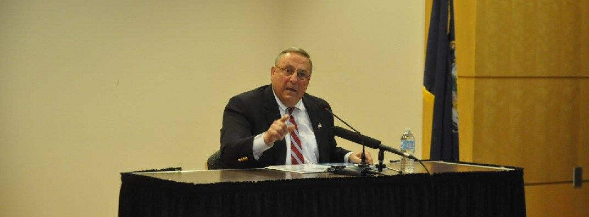 "Gov. LePage says public campaign financing like ""giving your wife your checkbook"""