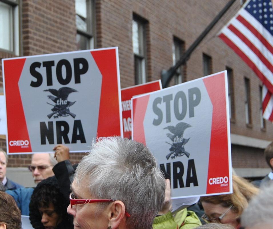 A 2012 anti-NRA protest - photo by Edward Kimmel