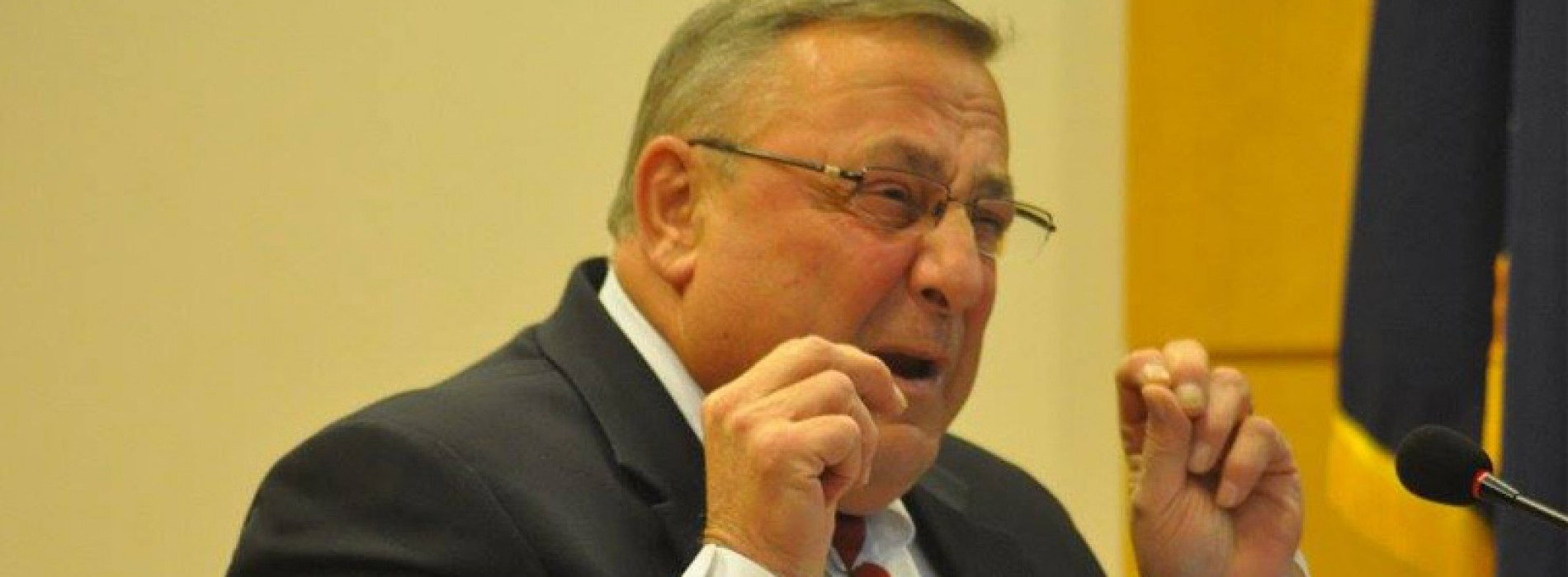 Democrats stand strong on taxes and education, while Gov. LePage retreats from everything