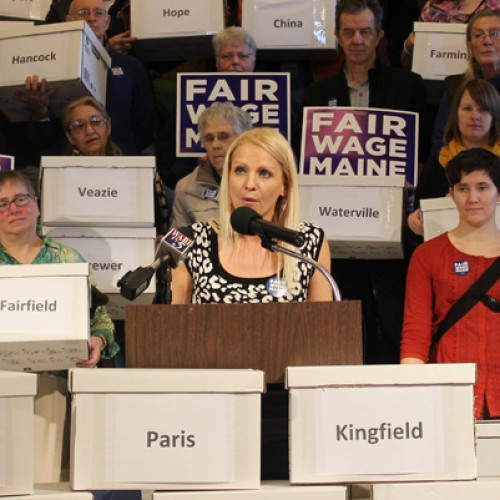 After massive volunteer effort, signatures submitted to raise Maine's minimum wage