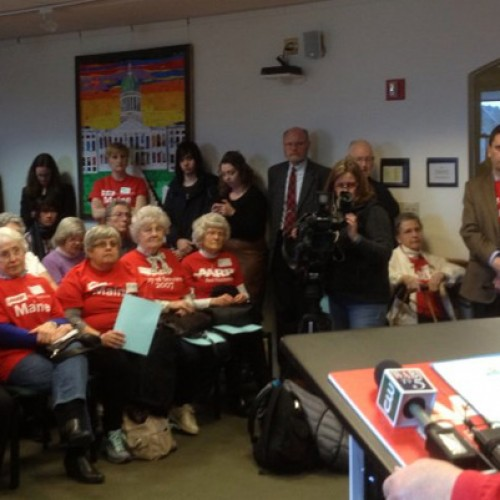 Seniors descend on Augusta, demand Gov. LePage release housing bond funds