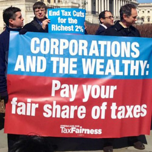 Mainers paid their taxes today, so should the wealthy and big corporations