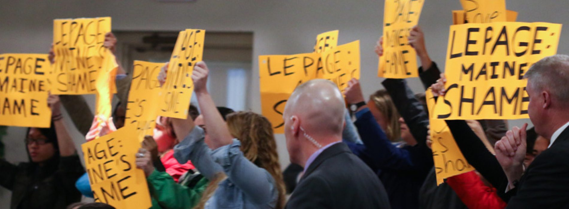 More students shame Gov. LePage with silent protest
