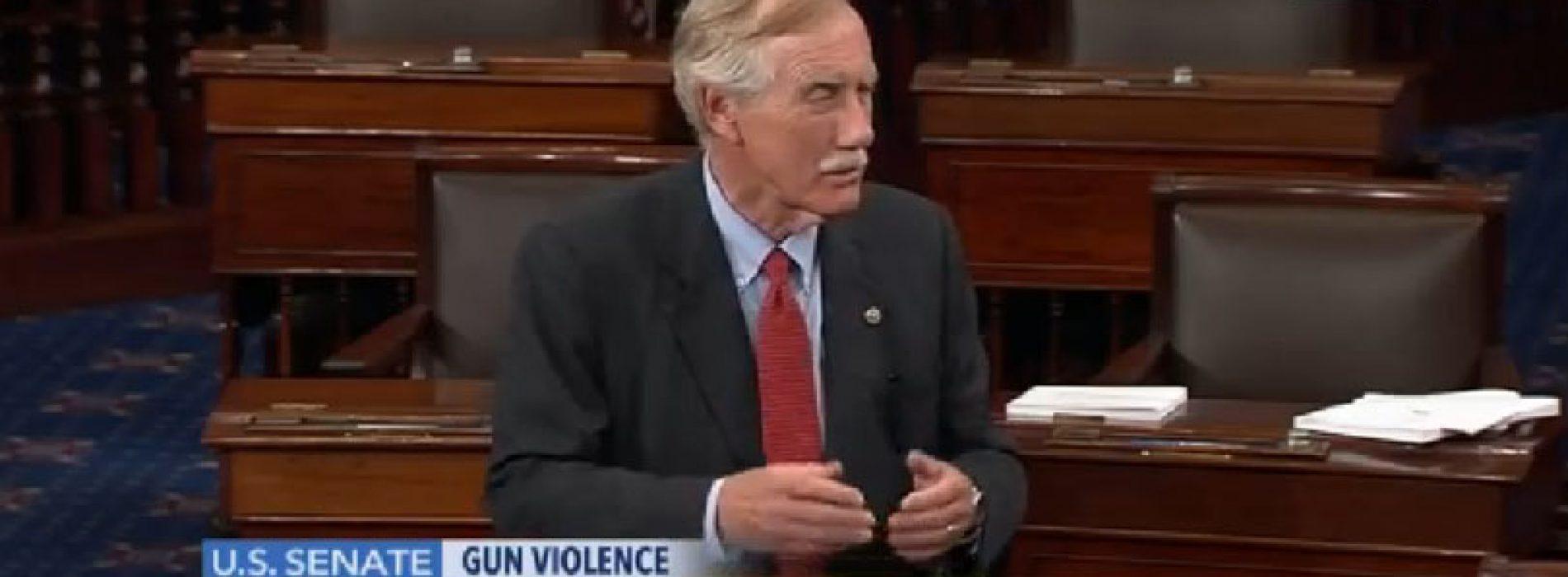 Sen. King joins gun safety filibuster