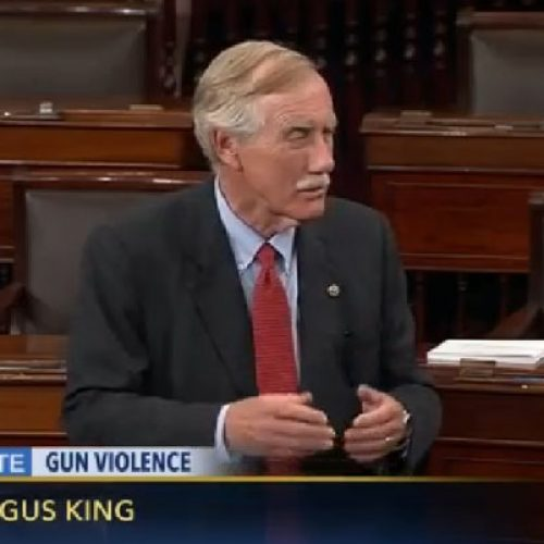 Sen. King joins gun safety filibuster