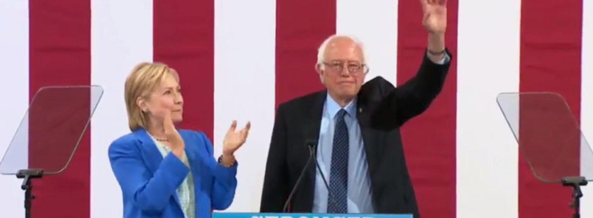 Bernie Sanders endorses Hillary Clinton in Portsmouth, blasts Trump on minimum wage