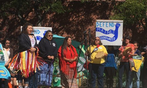 Mainers rally in solidarity with Dakota Access Pipeline resistance