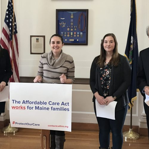 Children's advocates, parents call on Sen. Collins to oppose health care repeal