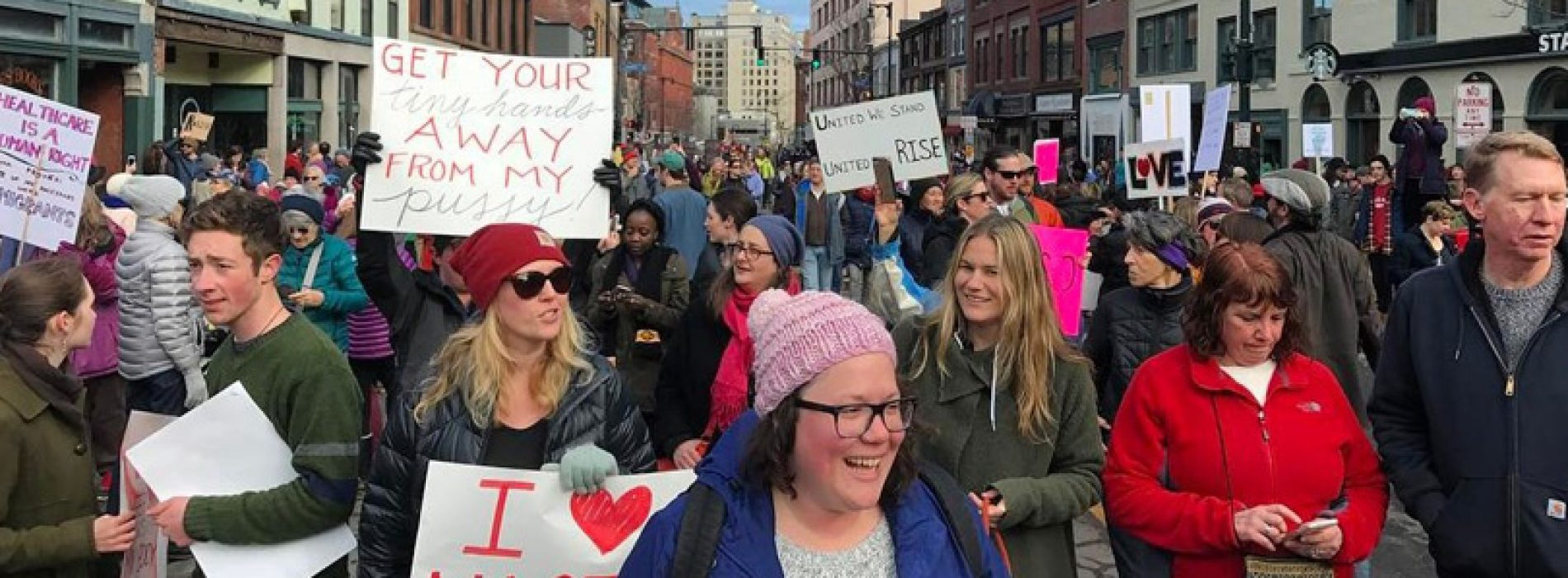Some of the best photos from Maine women's marchers