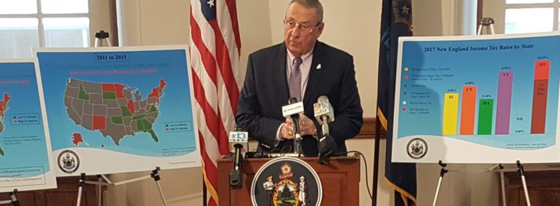 Gov. LePage will launch statewide campaign to push new tax breaks for the wealthy