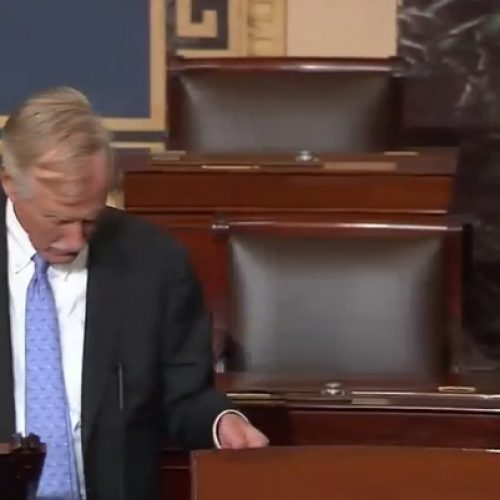 King searches Senate chamber for Republican health care repeal bill
