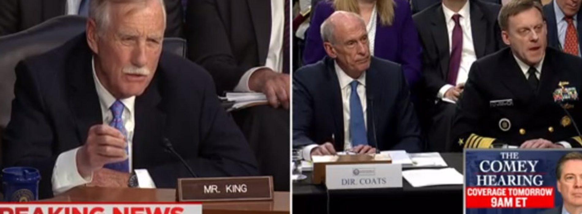 Sen. King grills Trump officials on refusal to testify