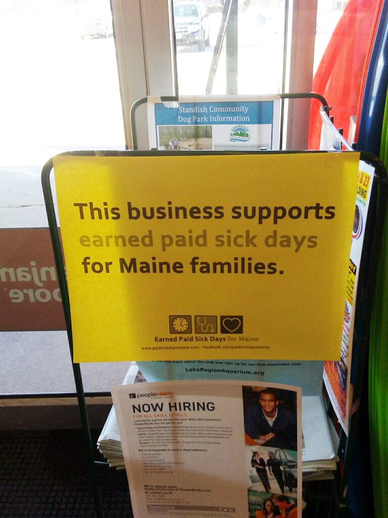 Maine small business owners back Sen  Millett's paid sick